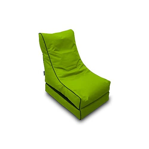 Bean Bag Beanbag Lounger Polyester Waterproof 50 x 75 cm Folded/150 x 70 cm Deployed (Pistachio)