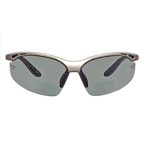 voltX 'Constructor' POLARISIERT Bifokale Lesen Schutzbrille, (+1.5 Dioptrie) CE EN166F Zertifiziert/Sportbrille für Radler - Polarised Safety Reading Glasses