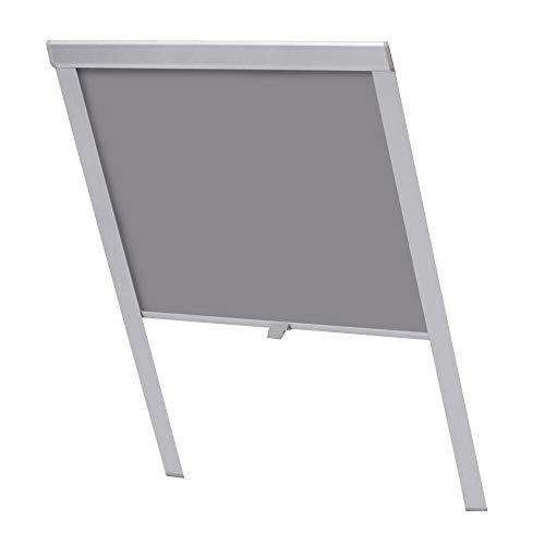 HENGMEI Verdunkelungsrollo für Dachfenster in GrauThermo Sonnenschutz für Velux Fenstersysteme Dachfenster Verschiedene Größen Fenstertypen : GGL, GPL, GHL, GTL, GXL (M08/308)