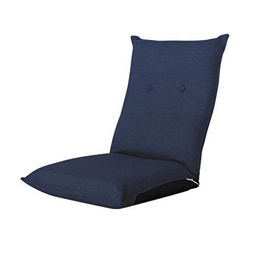 GHM Campingstuhl Floor Chair 14 Dateien Einstellbare Faltbare Bay Windo Stühle Einzel Sofa Sandy Beach Freizeit Recliners (Farbe : Blau) -