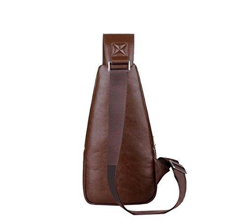Yy.f Ledertasche Schultertasche Brusttasche Diagonale Verpackung Business Aktentasche Freizeittasche (schwarz Und Braun) Brown