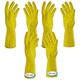 #10: olrada Rubber Latex Household Gardening Lawn Garden Rubber Hand Glove (3pcs set )