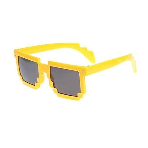 Preisvergleich Produktbild MARCU Home Sonnenbrille Retro Neuheit Unisex Cool Pixel Brille Pixelated Style Square Sonnenbrille
