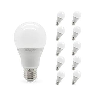 Lumilife 6W E27LED Standard Leuchtmittel–10PACK–dimmbar–kaltweiß–40W Ersatz
