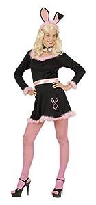 WIDMANN Disfraz de Conejita Negro Rosa Adulto