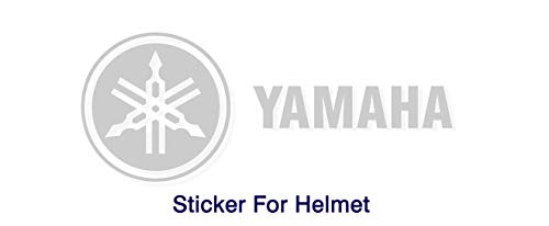 ISEE 360® Yamaha Stickers for Bike Helmet R15 V3 Grey Decals L x H 15 x 15 and 20 x 2.5 Cms (Pack of 2)