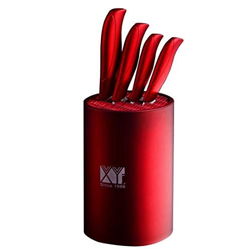 Yhomeii Messerblock/Messerhalter (Ohne Messer) - Round Universal Zylinder Messerblock Ständer Halter für Sauberkeit, Sicherheit, Raum Sparen Messer Stellen