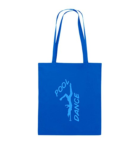 Comedy Bags - POOL DANCE - FIGUR - Jutebeutel - lange Henkel - 38x42cm - Farbe: Schwarz / Pink Royalblau / Blau