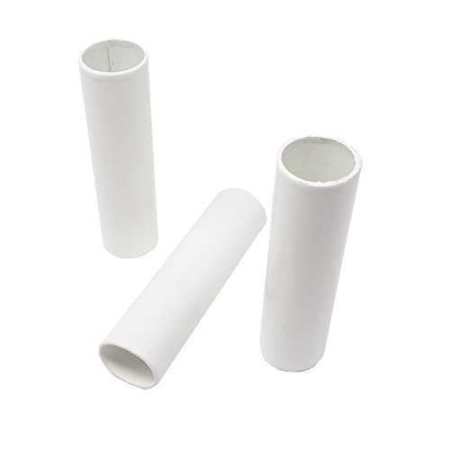 E14 Kerzenhülse 3 Stück ø27 L. 100mm Pappe Weiß lackiert | sehr hochwertige Qualität! für Kerzenfassung Kronleuchter Lüster -