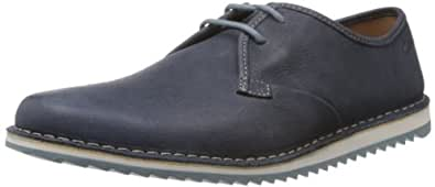 Clarks Men's Maxim Flow Navy Leather Sneakers - 12 UK