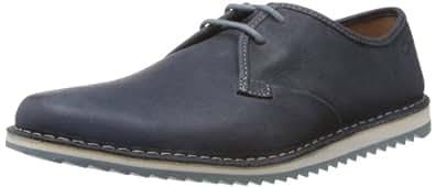 Clarks Men's Maxim Flow Navy Leather Sneakers - 8.5 UK