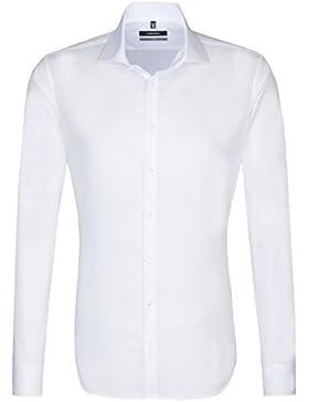 SEIDENSTICKER Herren Hemd X-Slim 1/1-Arm Bügelfrei Uni / Uniähnlich City-Hemd Kent-Kragen Kombimanschette weitenverstellbar