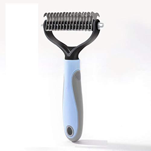 Jjek Pet Brush, Hund & Katze Kamm, Open The Entangled Hair und Massage für Pet (Farbe : Blau, größe : 6.6cm)