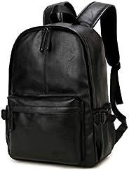Korean version Fashion Stylish Leather Shoulder bag backpack high capacity travel bag 15inch laptop bag For Me