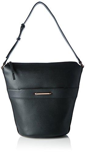 Calvin Klein HEATH3R Elongated Bucket Bag, Sac Femme, Noir (Black), 18x33x41 cm (b x h x t)