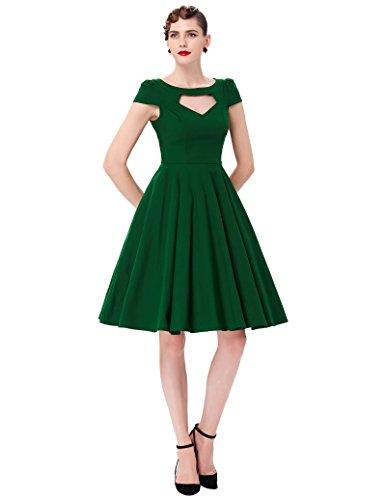 Belle Poque 50s Vintage Retro Rockabilly Kleid Sommerkleid Petticoat Kleid GD000008 BP189-3