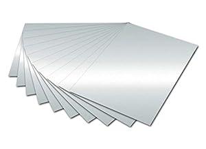 Folia 6161 - cartulinas Plateado 50 x 70 cm cartón de 300 G/qm, 10 Hojas