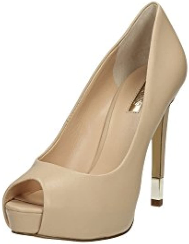 GUESS Damen Pumps Highheels Stilettos Beige 2018 Letztes Modell  Mode Schuhe Billig Online-Verkauf