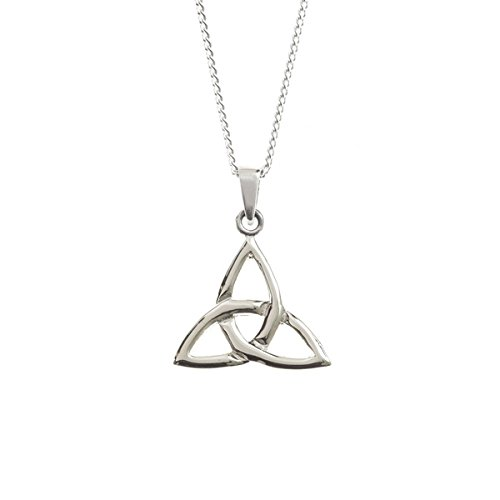 Boxed Sterling Silver Goddess Triquetra Pendant On 18