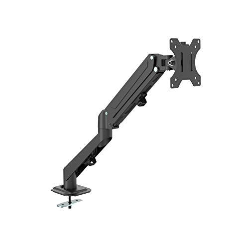 """SGSP Monitor Halterung Einarm, Ergonomische Gasgestützte Arm für 17\""""-27\"""" (43-68,5 cm) Bildschirme, VESA 75x75-100x100 mm, 2 Montageoptionen"""