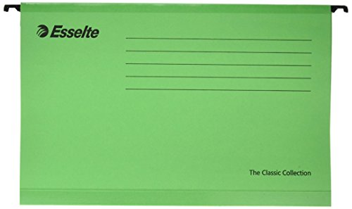 Esselte 90337 The Classic Collection Cartella Sospesa Rinforzata, 390-V/3 cm, Verde - Esselte Esselte Pendaflex File