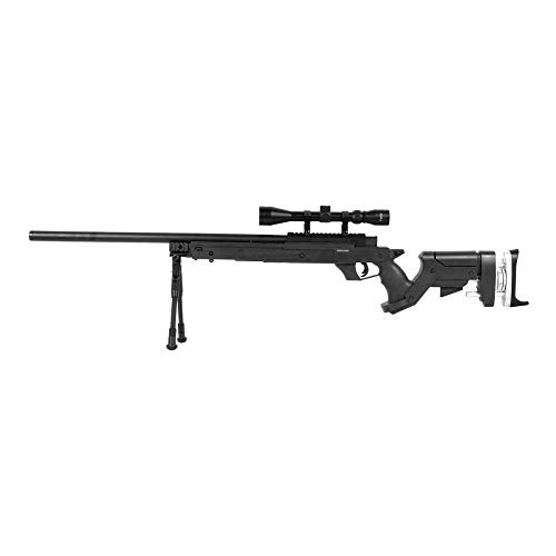 Well Airsoft Sniper L96 Pro Tactical w/Lunette & Bipied MB-05D 0.5 Joule