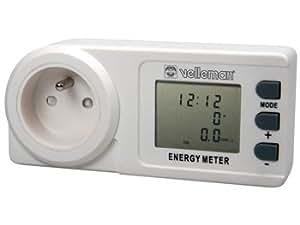 Perel - Compteur d'Energie Wattmetre 230V 16A Affichage lcd