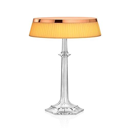 Flos Bon Jour Versailles Lampe de table avec structure cuivre et abat-jour tissu