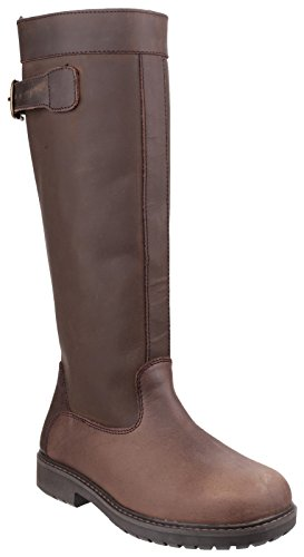 Cotswolds Mens Brown Leather York Country Waterproof Wellingtons Boots
