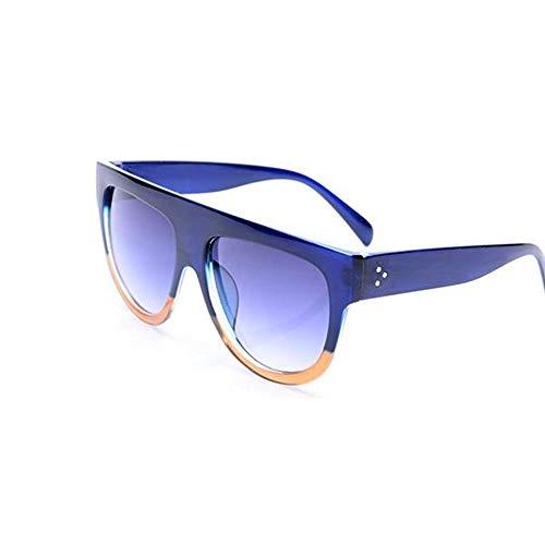 ZHOUYF Sonnenbrille Fahrerbrille Übergroße Quadratische Sonnenbrille Weibliche Modelle Farbverlauf Sommer Klassische Damen Sonnenbrille Weibliche Großzügige Brille Uv400, E