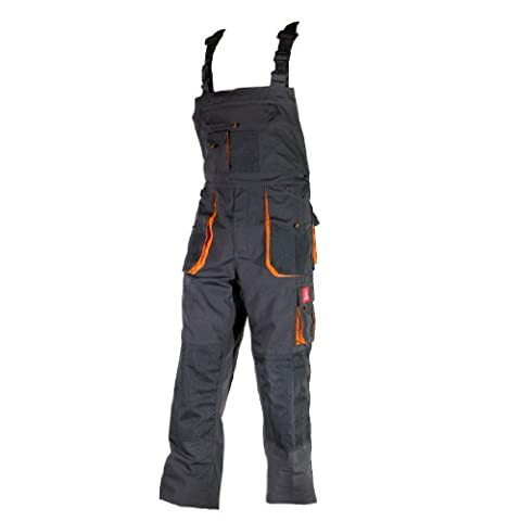 Urgent URG-A Grau-orange 50 Arbeitskleidung Latzhose, Graphit