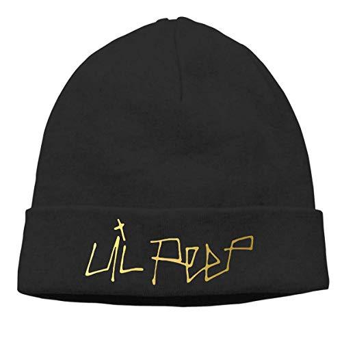... The Most Durable Beanie Now! CarterH Lil Peep Logo Cuffed Plain Skull  Knit Hat Cap Skull Cap Unisex Black f944dd12c870