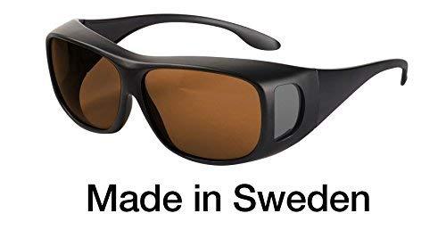 Blaulichtfilter - Überbrille - Fit-Over-Brille, Blue Blocker mit Kantenfilter 511 und 60% Grautönung, UV-Schutz, Blendschutz, kontraststeigernde Unisex-Lichtschutzbrille IV PROSHIELD -