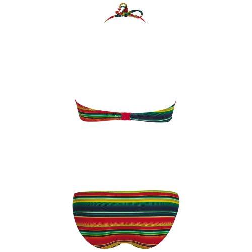 Chiemsee bikini bandeau 1060708 maillot de bain type tankini noir Multicolore - Stripe Mint