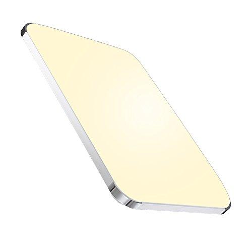 Hengda® 48W LED Deckenleuchte Panel Alu-matt Schlafzimmer Wohnzimmer Warmweiß 3840LM Sparsame Dauerbeleuchtung