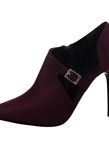 WSS 2016 Chaussures Femme-Habillé / Décontracté / Soirée & Evénement-Noir / Rouge / Gris / Bordeaux / Amande-Talon Aiguille-Talons-Talons- gray-us7.5 / eu38 / uk5.5 / cn38