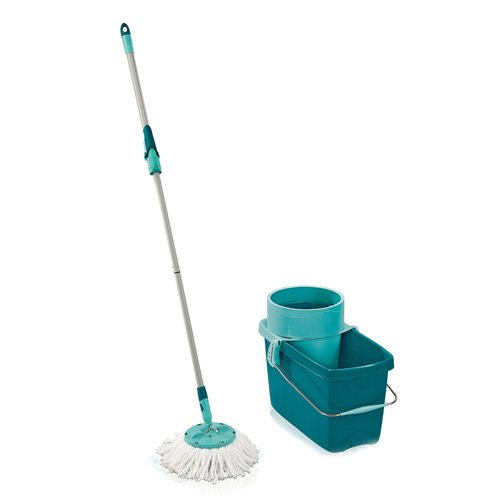 Leifheit 52019 Clean Twist, Set Mop e Benna, colore: Turchese