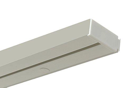 Gardineum 1,80 m Gardinenschiene, Längen bis 2 m möglich, Vorhangschiene, 1-läufig, Kunststoff mit 1 Paar Endkappen, weiß, Komplettset mit Zubehör