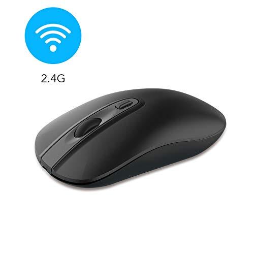 cimetech Kabellose Maus 2.4G Maus Schnurlos Optische Maus Wireless Mouse 1600 DPI Mäuse mit USB Nano Empfänger für PC/Tablet/Laptop und Windows/Mac/Linux (BAT Schwarz)