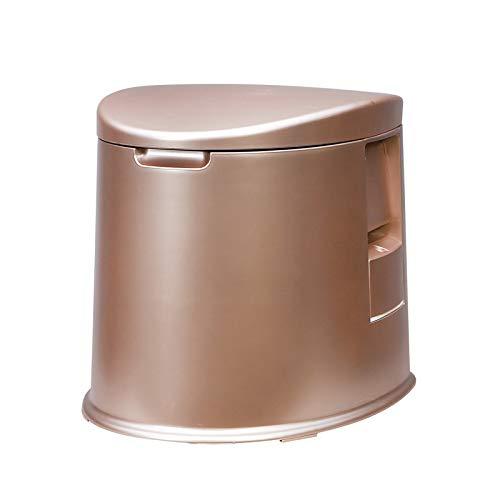 JXHD WC Portatile per Auto - Design Mobile Portatile Multifunzione per Esterno, Bambini Anziani E Donne Incinte,Gold