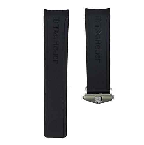 ROUHO 24Mm Sportarmband Weicher Silikongurt Armbanduhr Für Tag Heuer Wettkampftaucher Calella-Mit Schnalle