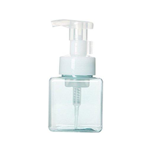 EMVANV Shampoo Schaumstoff Spender, 250ml, quadratisch, Schäumendes Seife Pumpe, Shampoo Spender, Lotion Liquid Schaumstoff Flasche Container, hellblau, 250 ml (Square Liquid Container)