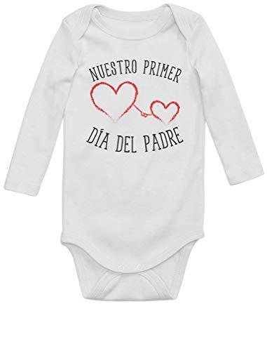 Body Manga Larga bebé - Nuestro Primer Día Padre