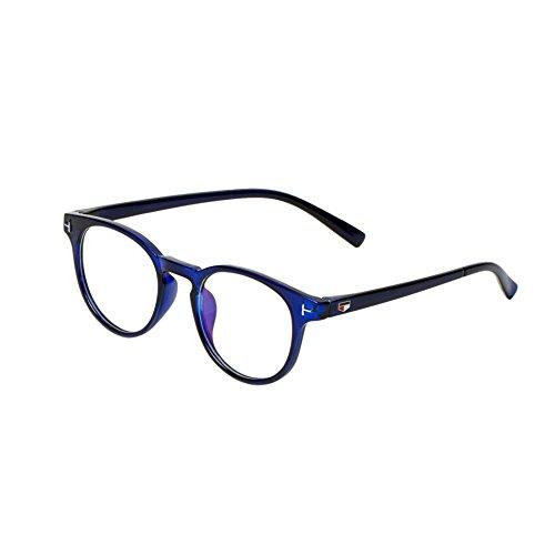 Vast Blue Round UV Protection Full Rim Spectacle Frame (Unisex|Blue|52|Clear)