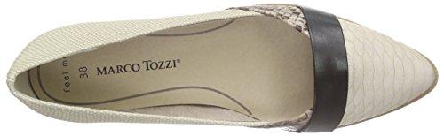 Marco Tozzi 22114 Damen Geschlossene Ballerinas Beige (DUNE COMB 435)