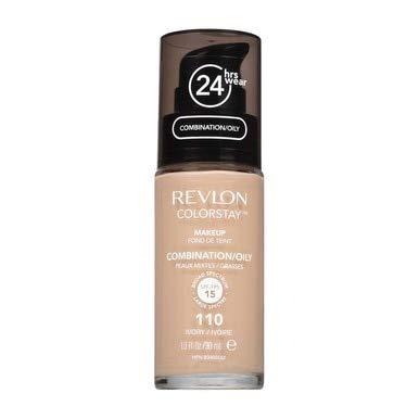 Revlon Colorstay Make Up - combination/Oily Skin 110 Avorio - Confezione Doppia