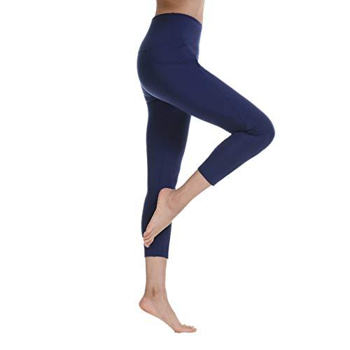 Generic Yoga Hosen Damen mit Tasche Hohe Taille Stretch Plus Size Slim Strumpfhosen Fitness Hosen Workout Sport Leggings (Hoher Mit Junioren Für Taille Hose)