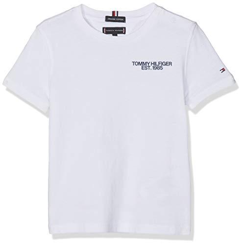 Tommy Hilfiger Baby-Jungen Essential Class. Graphic Tee S/S T-Shirt, Weiß (Bright White 123), (Herstellergröße: 92) -