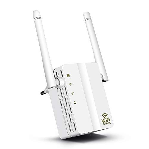 TESEU Répéteur WiFi Amplificateur WiFi 300Mbps/2,4GHz WiFi Extender WiFi Booster Compatible avec Toutes Les Box Internet, Blanc