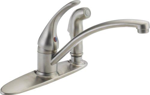 Delta Wasserhahn Foundations Core B Single Griff Küchenarmatur mit integriertem Spray - Hole Single Küchenarmatur Delta